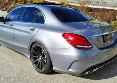 Lowered Mercedes C Class W205